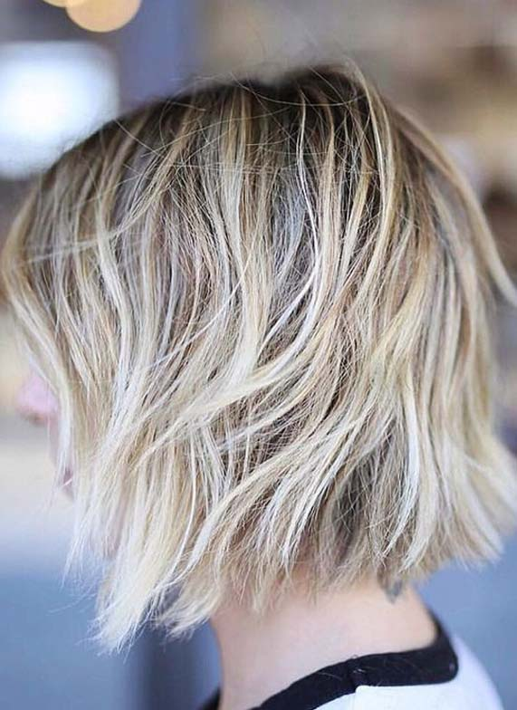 Blonde Balayage Shades for Short Hair in 2019
