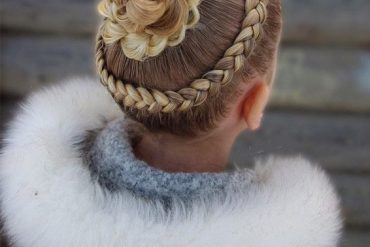 Pretty Dutch Lace Braids with Braided Bun Hairstyle for 2019