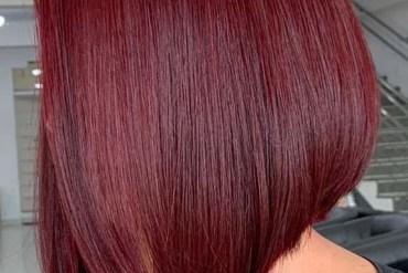 Sleek Red Bob Cuts for women 2019