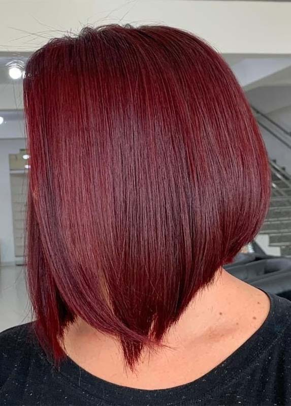 Sleek Red Bob Cuts for women 2019