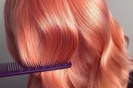 Stunning Glossy Peach Hair Looks for Medium Length Hair in 2019