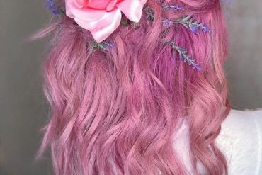 Stunning Pink Hair Color Style for Medium Hair In 2019