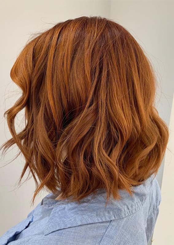Amazing Wavy Bob Cuts with Red Shades in 2019