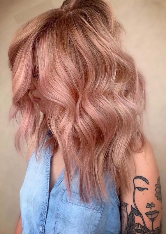 Beautiful pink pastel hair color ideas for 2019