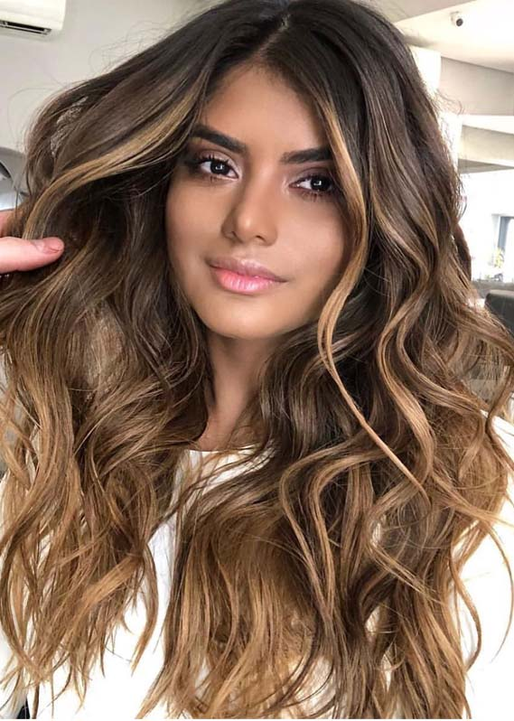 Brunette Balayage Hair Colors for Long Hair in 2019