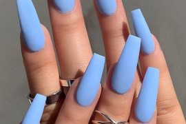 Easy & Cutest Sky Blue Nail Art Ideas for 2019