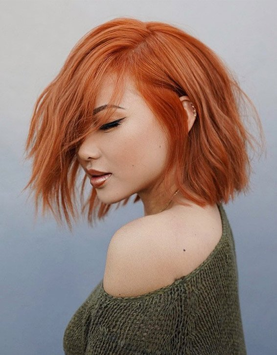 Fantastic Copper Bob Hair Ideas to Copy In 2019