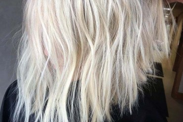 Ice Blonde Lob Haircuts for Women to Show Off in 2019