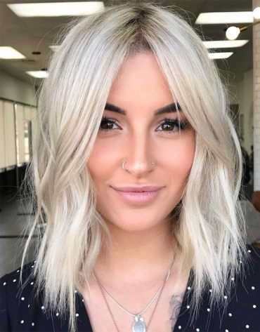 Lovely Blonde Haircuts for Medium Length Hair In 2019