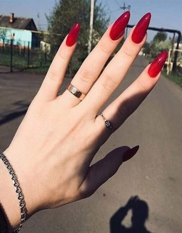 Adorable Red Nail Designs & Images for 2020