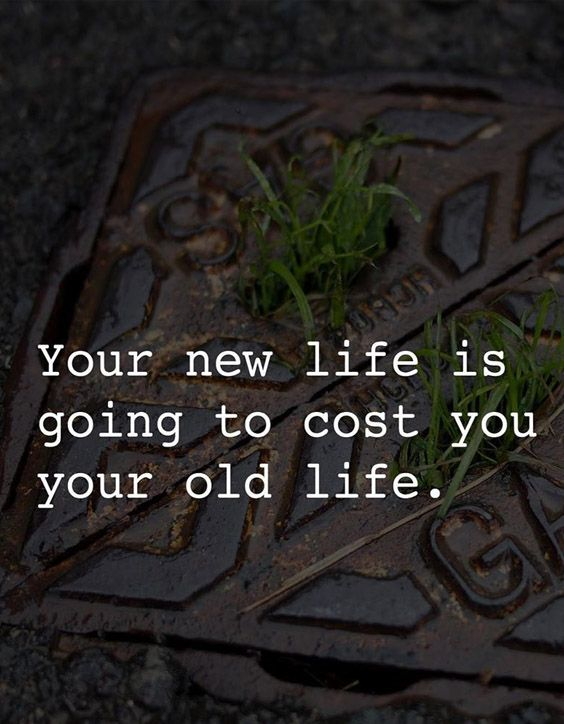Cost you Your old Life - Ideal Life Quotes & Sayings