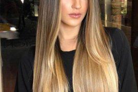 Lovely Long Light Brown Hair Color Highlights for Girls