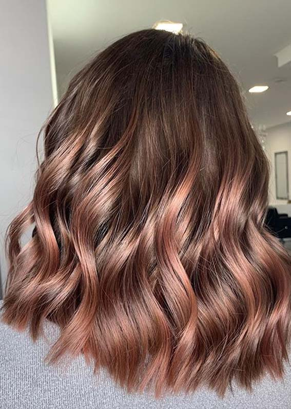 Stunning Roségold Balayage Hair Colors for Ladies in 2020