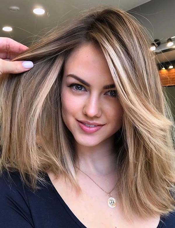 Brilliant Medium Length Straight Haircuts for Women 2020