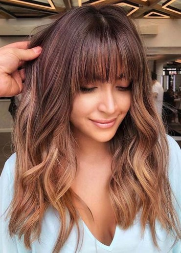 Latest Medium to Long Hairstyles with Bangs to Show Off in 2020
