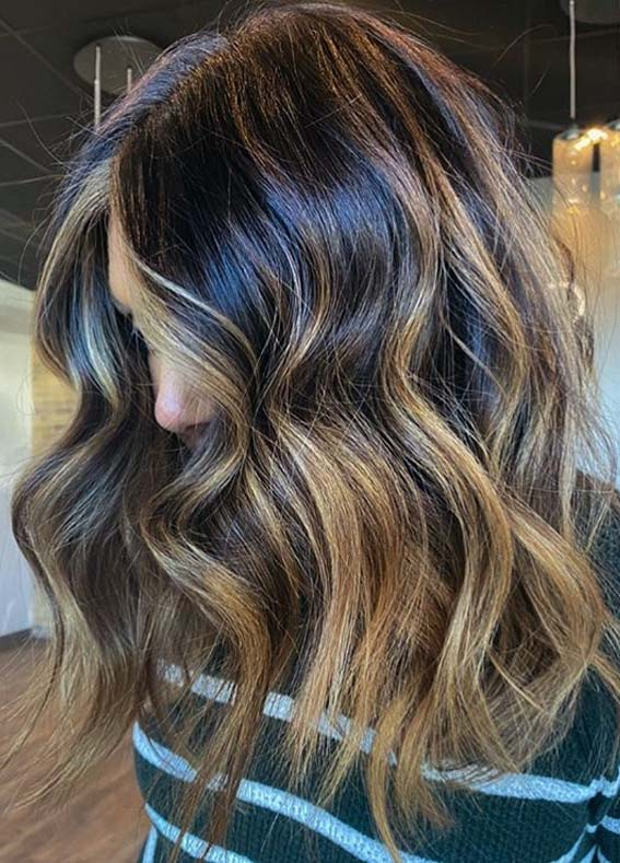 Perfect Brunette Balayage Hair Colors Highlights in 2020