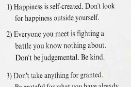 Happiness is Self Created - 2020 Lesson Quotes