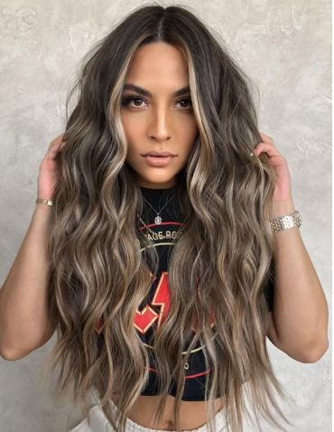 2021 Caramel Hair Color Style for Long Hair