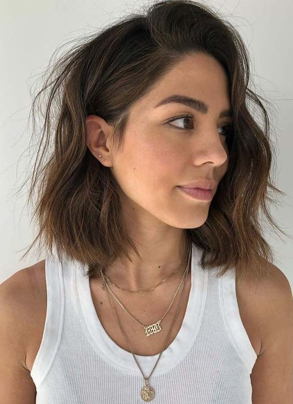 Gorgeous Textured Lob Haircut Styles for Girls