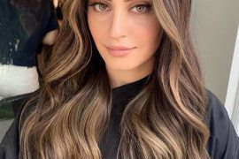 Awesome Beige Brown Hair Color Style for Long Hair