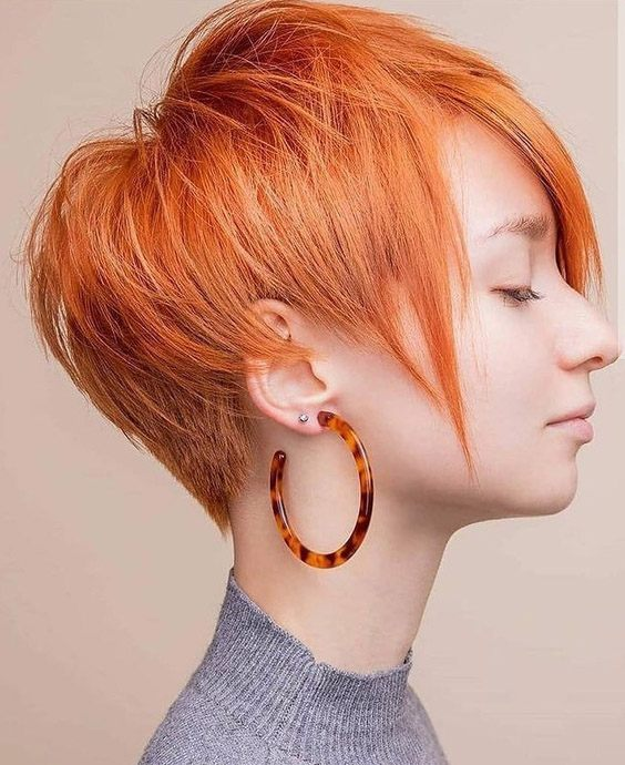 Trendy Style of 2021 Hair Color for Short Hair