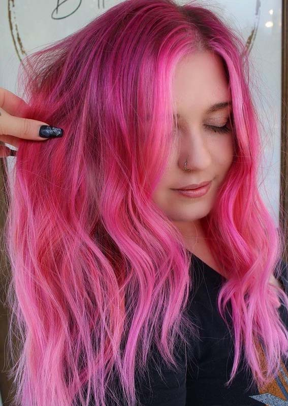 Bright Pink Hair Color Shades for Girls