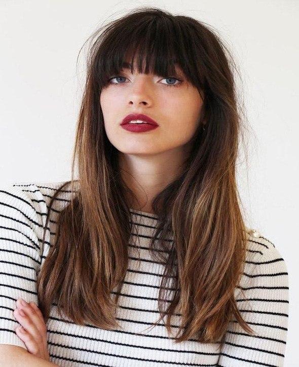 Bangs Hairstyles for Long Hair