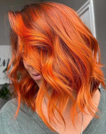 Hottest Copper Red Hair Color for Short Hair