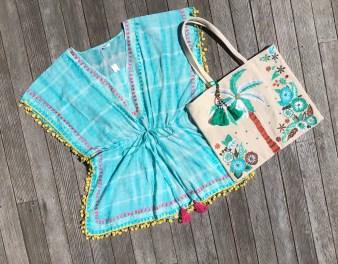 American & Beyond Embroidered Palm Tree Bag, $52