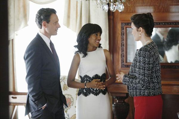 Photo courtesy of ABC: Flashback- Michael Kors black and white dress