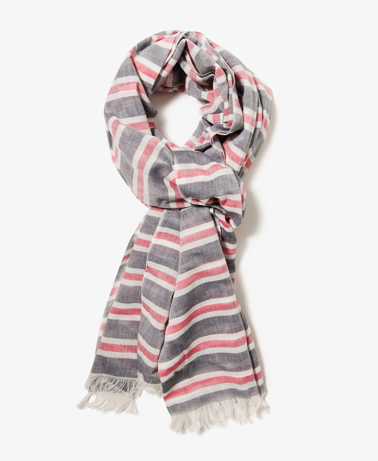 Forever 21 Frayed stripe scarf - the preppy look of this scarf makes it stand apart from the rest.
