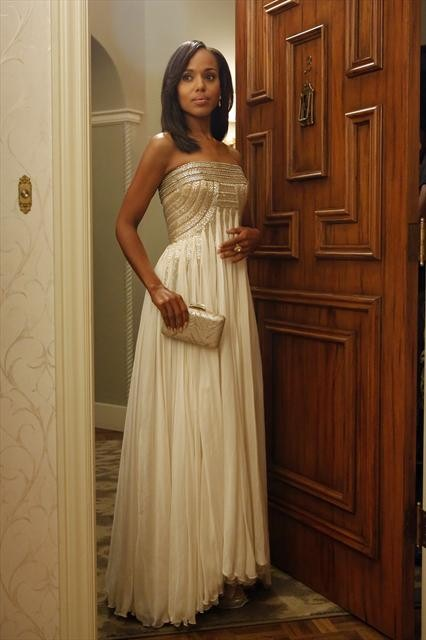 Photo courtesy of ABC. Jean Fares Vintage Couture Gown (worn to Fitz almost 50th Birthday Party)