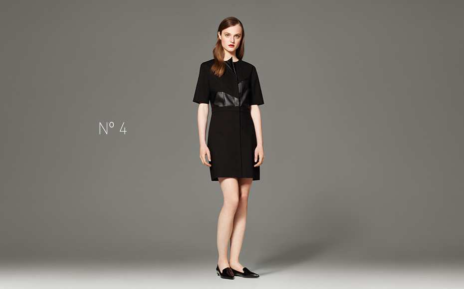3.1 Black and Faux Leather Dress, $49.99