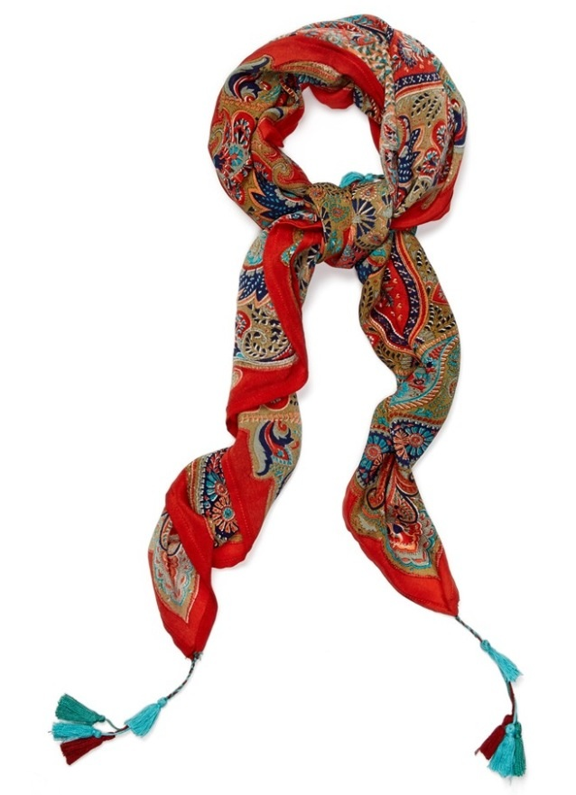 Lucky Brand Paisley Print Silk Scarf at Nordstrom. Paisley is a classic print that can pull any outfit together!