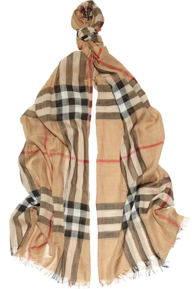 Burberry Checkered wool and silk scarf...a classic! ~ For the larger wallet girls...