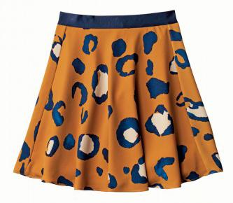 3.1 Leopard Skirt Silky Skirt in Animal Print, $29.99