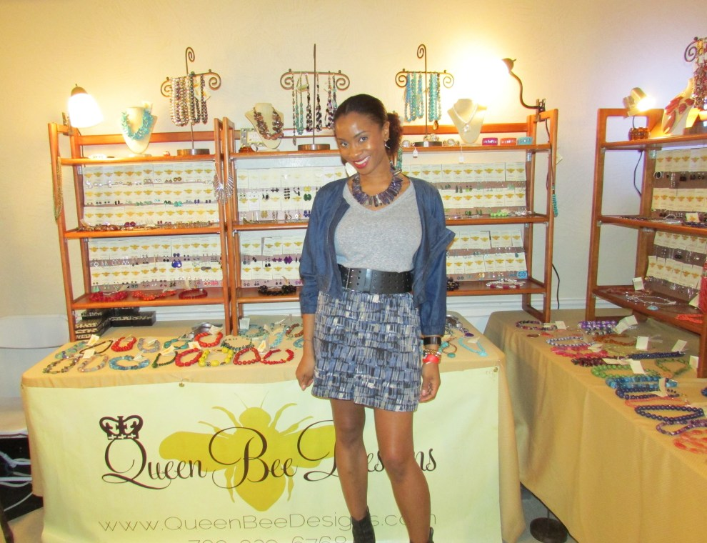 Yana B. in a Queen Bee Designs blue coral necklace