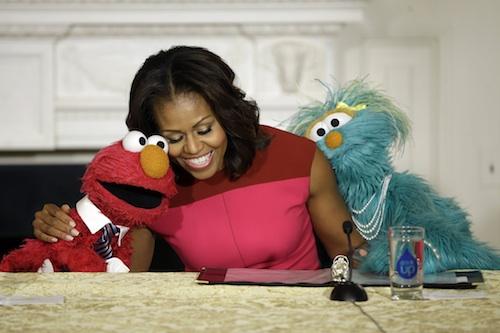 Michelle Obama, Elmo, Rosita