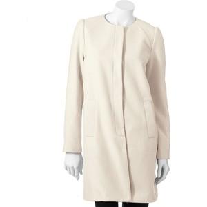 ELLE™ Solid Collarless Coat