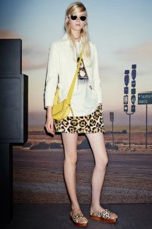 Coach_large animal print skirt