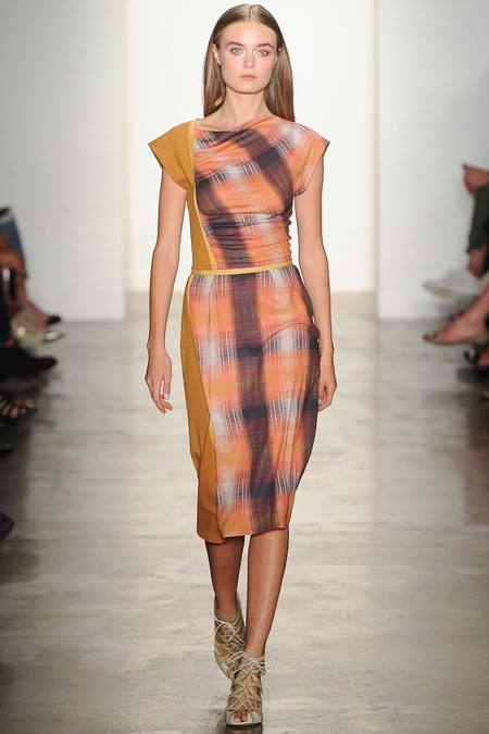 Costello K Mixed Plaid Dress