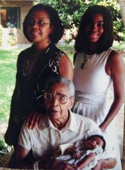 My grandma, mom, me, and daughter - 4 generations