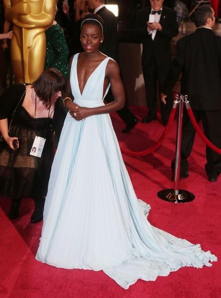 2014 Academy Awards - Lupita in PRADA: Photo by FlameFlynetPics