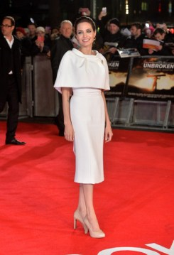 Angelina Jolie at the UK Premiere of Unbroken in Ralph & Russo