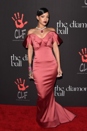Rihanna at her first annual Diamond Ball in Zac Posen Photo: Jason Merritt/Getty