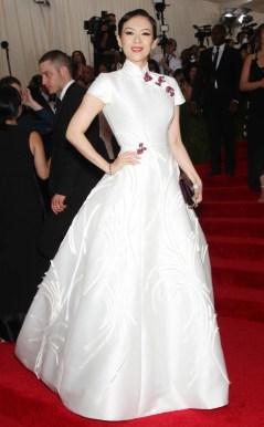 Zhang Ziyi in Carolina Herrera Photo: Startraksphoto