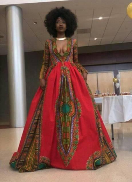 Dashiki Maxi Dress (Etsy)