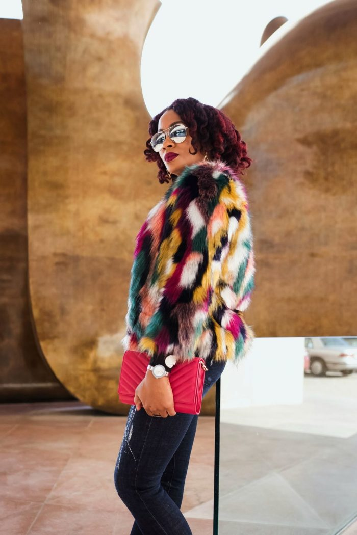 Color My Coat: How to Wear Colorful Fur