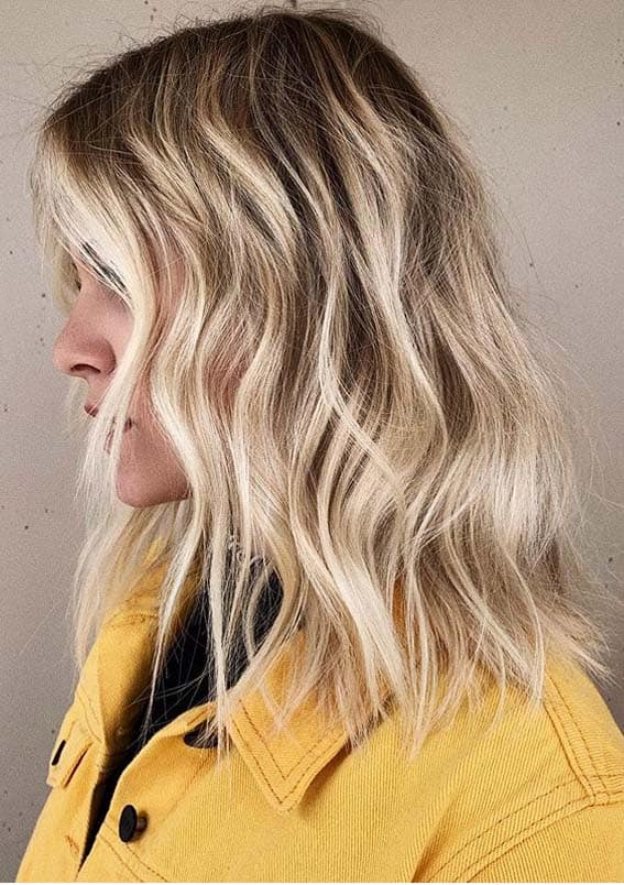 Effortless textured Beach Blonde Haircuts for Women in 2020