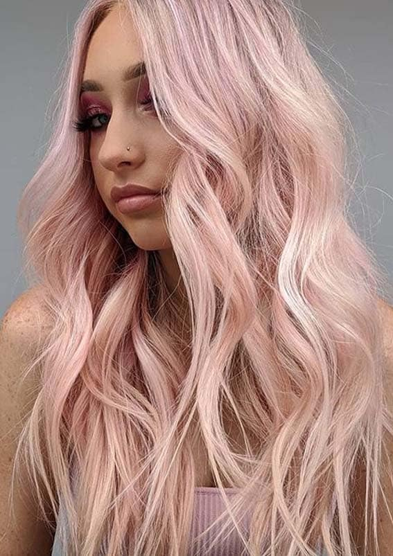 Beautiful pink pastel hair color Trends to Follow in year 2020